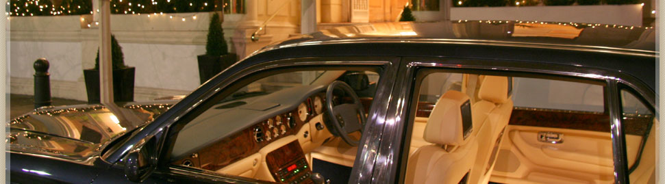 Costs for VIP Bentleys chauffeur driven cars
